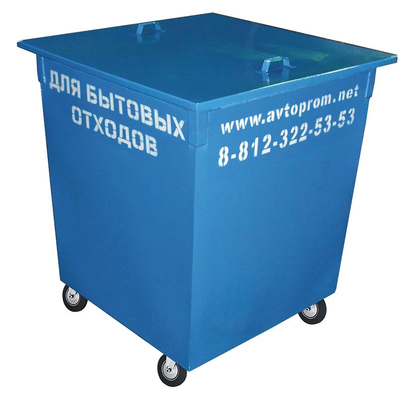 Металлический мусорный контейнер