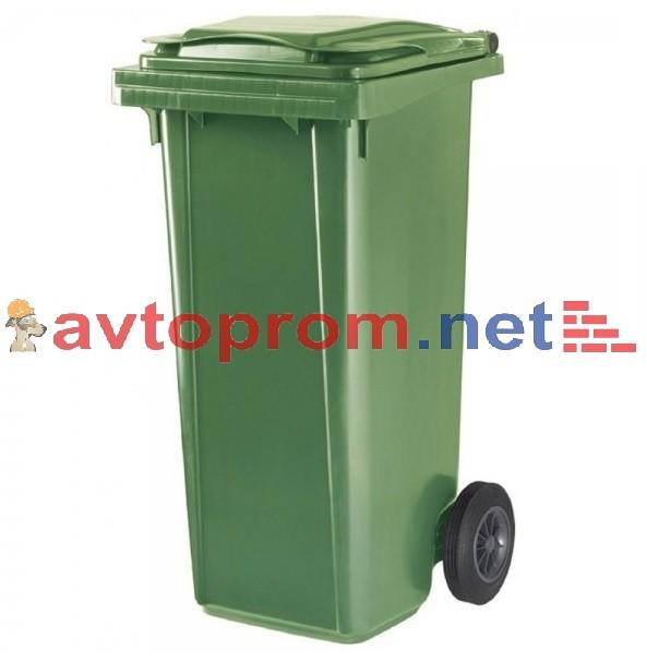 Мусорный контейнер 120л (зеленый), для бытовых отходов